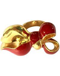 Dior Anillo en metal dorado - Multicolor