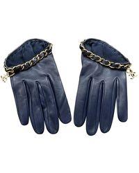 Chanel Leder Handschuhe - Blau