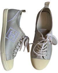 Chanel Leinen Sneakers - Mehrfarbig