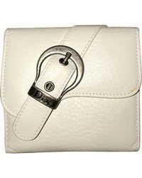 Dior Saddle Leder Portemonnaies - Weiß