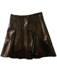 Maje Spring Summer 2019 Black Patent Leather Skirt