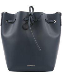Mansur Gavriel Bolsa de mano en cuero marino Bucket Bag - Multicolor