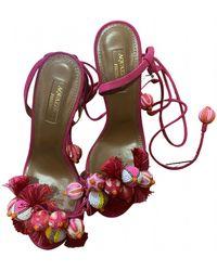 Aquazzura Wild Thing Sandal - Pink