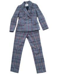 Blumarine Wool Suit Jacket - Grey