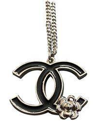 Chanel Cc Silver Necklace - Gray