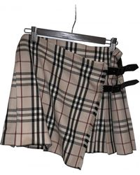 Burberry Wool Mini Skirt - Multicolor