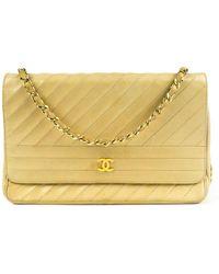 Chanel Leder Handtaschen - Natur