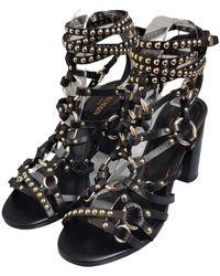 Balmain Leather Sandals - Black