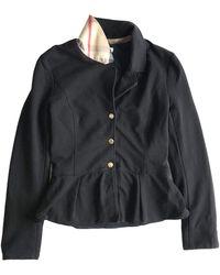 Burberry - Black Cotton Jacket - Lyst
