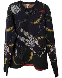 Loewe Blue Wool Knitwear & Sweatshirt