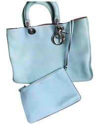 Dior Issimo Leder Shopper - Blau