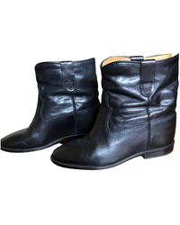 Isabel Marant Cluster Leather Biker Boots - Black