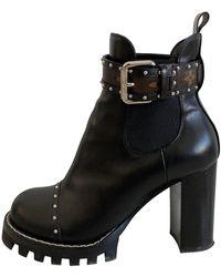 Louis Vuitton Boots Star Trail en Cuir Noir