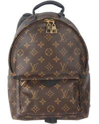 Louis Vuitton Zaino in tela marrone Palm Springs
