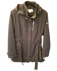 Michael Kors Green Synthetic Coat