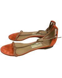 Ferragamo Sandales en Suede Orange