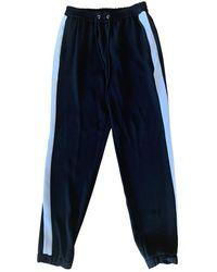 Michael Kors Black Polyester Pants - Blue