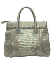 Nancy Gonzalez Crocodile Handbag - Metallic