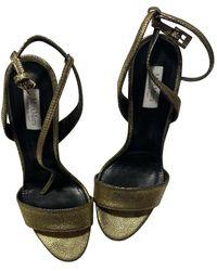 Max Mara Leather Sandals - Metallic