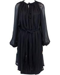Lanvin - Silk Mid-length Dress - Lyst