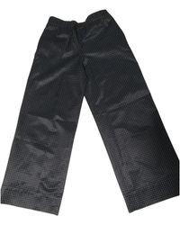 A.P.C. Black Cotton Trousers