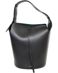 Burberry The Bucket Black Leather Handbag