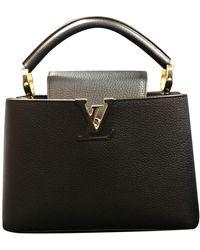 Louis Vuitton Capucines Leather Handbag - Black