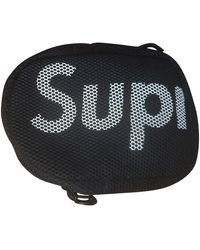 Supreme Black Synthetic Small Bag Wallet & Case