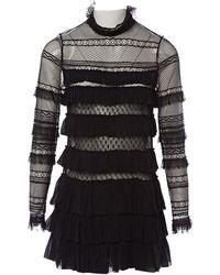Isabel Marant - Black Polyester Dress - Lyst