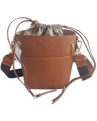 Chloé Roy Leather Crossbody Bag - Brown