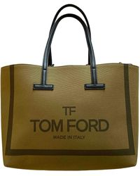 Tom Ford Cabas Icon de Lona - Verde