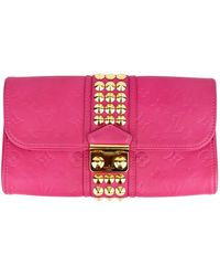 Louis Vuitton Coquette Leather Clutch Bag - Pink