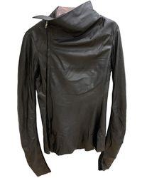 Rick Owens - Black Leather Jacket - Lyst