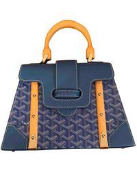Goyard Saïgon Blue Cloth Handbag