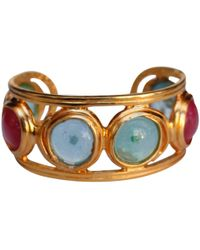 Chanel - Vintage Multicolour Metal Bracelets - Lyst