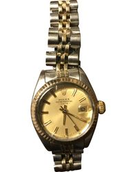 Rolex Lady Oyster Perpetual 26mm Gold Gold And Steel Watch - Metallic