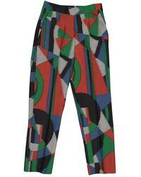 Isa Arfen Pantalons en Polyester Multicolore
