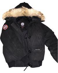 Canada Goose Black Fur Coat Chilliwack