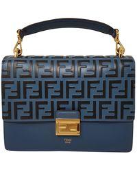 Fendi Blue Leather Handbag