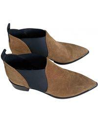 Acne Studios Jensen / Jenny Ankle Boots - Natural