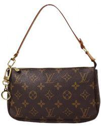 Louis Vuitton Pochette Accessoire Leinen Clutches - Mehrfarbig