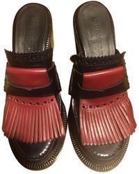 Burberry Leather Flats - Black