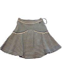 Chanel - Black Cotton Skirt - Lyst