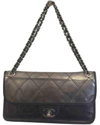 350dbbda5202 Lyst - Chanel Pre-owned Other Plastic Handbags in Gray