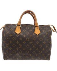 Louis Vuitton Speedy Leinen Handtaschen - Braun