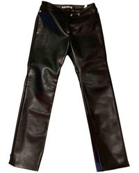 Acne Studios Leather Trousers - Black