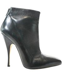 Brian Atwood Black Leather