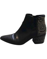 Belle By Sigerson Morrison Leather Ankle Boots - Black