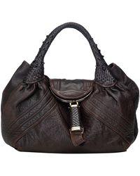 Fendi Spy Brown Leather Handbag
