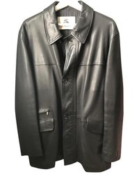 Burberry Leather Coat - Black